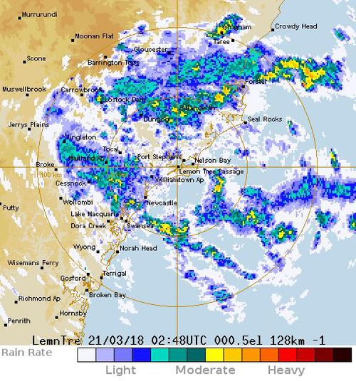 Up to 200mm of rain is expected in some areas. (BoM)
