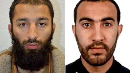 Khuram Shazad Butt (left) and Rachid Redouane, two of the men shot dead by police following terrorist attack in London Bridge. (MI5)