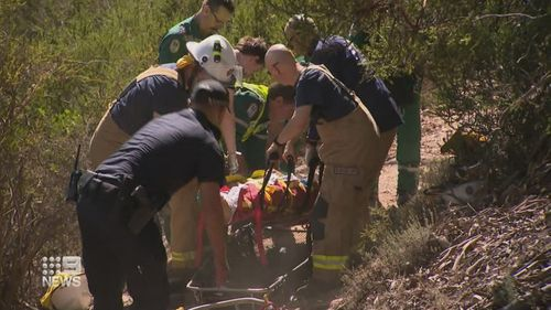 The man was out riding with his family when he crashed into dense bushland at the Eagle Mountain Bike park.