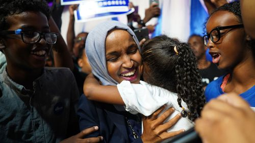 Ilhan Omar won a heavily Democratic seat in Minneapolis, Minnesota.