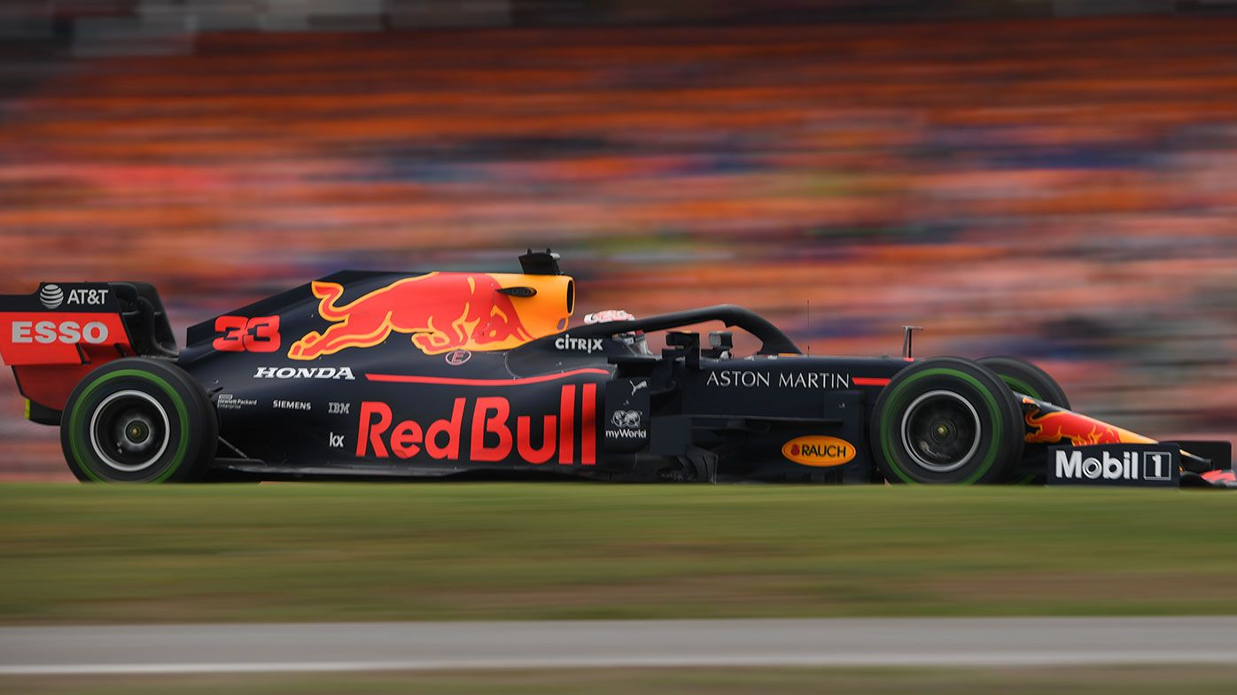 Max Verstappen in action at Hockenheim in 2019.