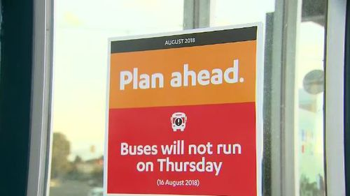 Half of Melbourne's buses won't run on Thursday as drivers strike.