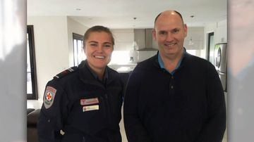 Off-duty paramedic Jess Handley got an alert on the 'GoodSAM' app when doctor Andrew Crellin went into cardiac arrest in his home nearby.