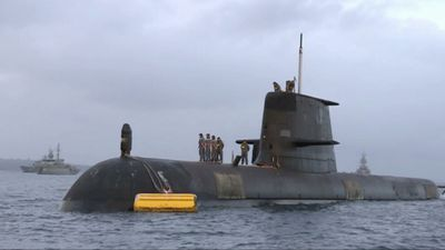 Aussie submarine takes part in war games