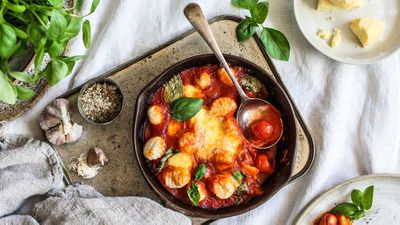 "Recipe: <a href=""http://kitchen.nine.com.au/2018/02/12/14/21/baked-gnocchi-sorrentina-recipe"" target=""_top"">Baked gnocchi sorrentina</a>"