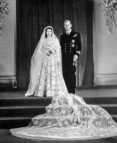 Princess Elizabeth weds Prince Philip, 20 November, 1947