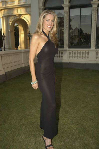Tara Moss at the opening party for the L'Oreal Melbourne Fashion Festival. At the Victorian Government House. Melbourne, Victoria, Australia.