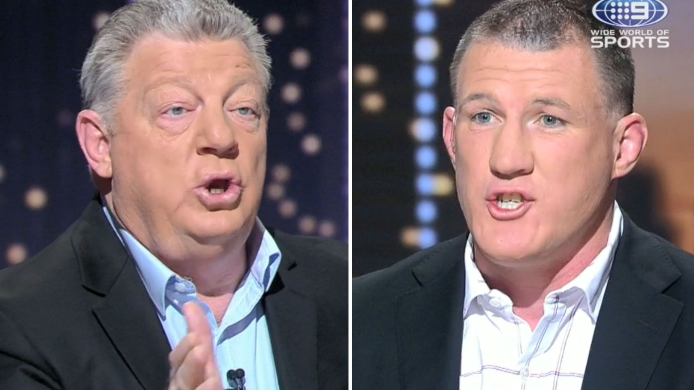 Phil Gould and Paul Gallen lock horns over Sam Burgess NRL semi-final ban