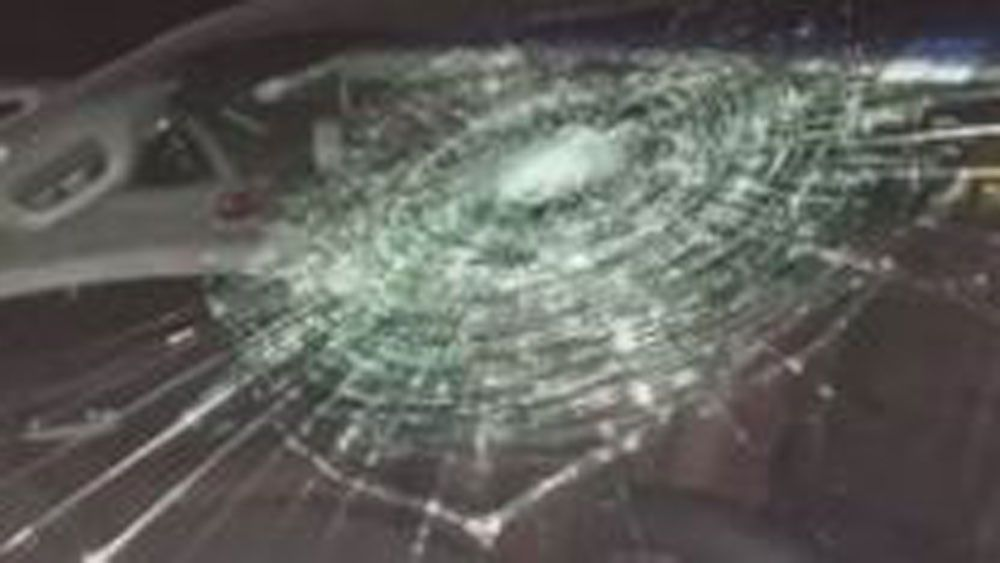 Baseballer smashes own windscreen with home run blast