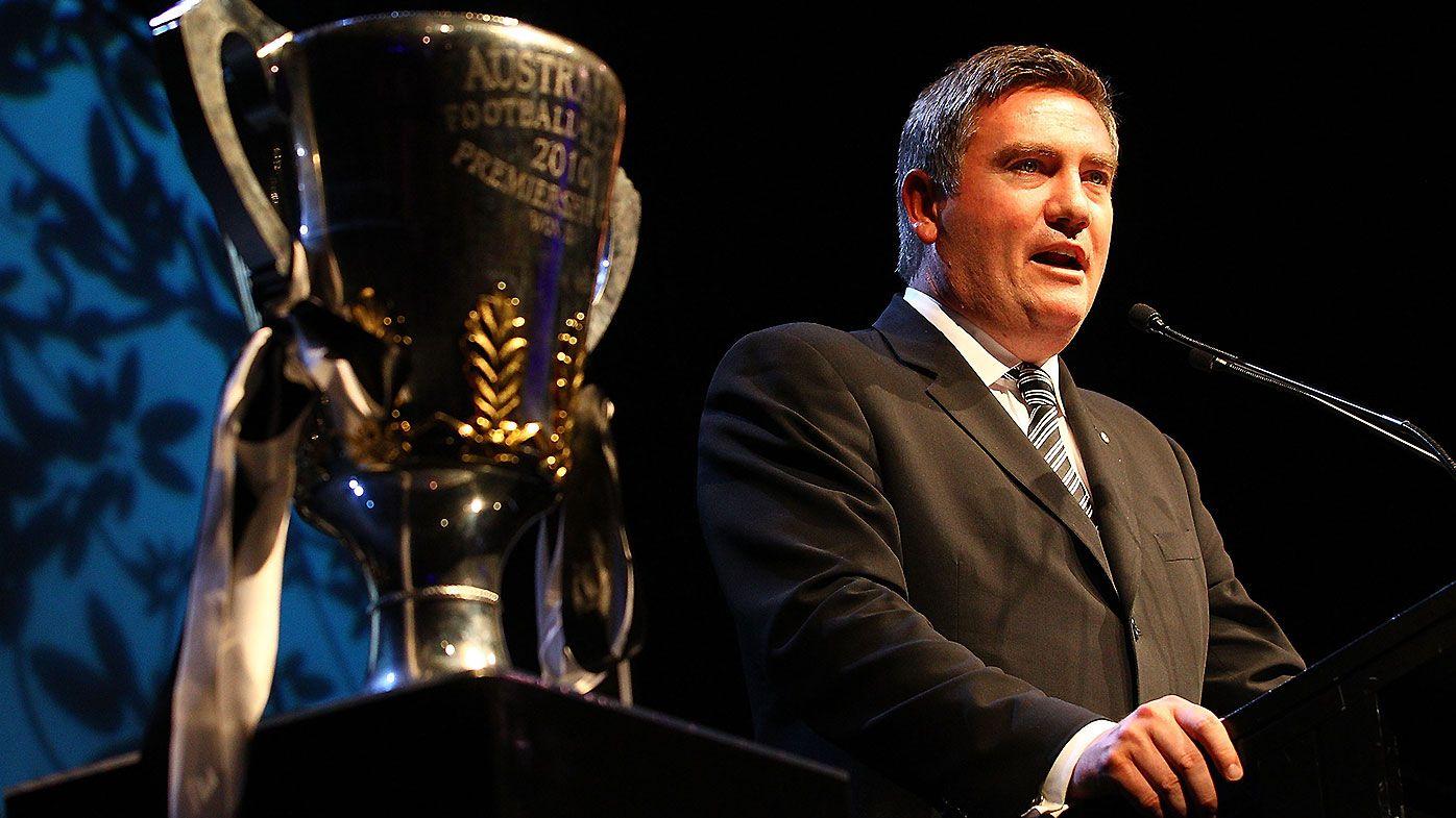 Eddie McGuire splits opinions in tearful farewell speech as Collingwood president