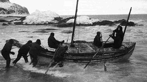 Ernest Shackleton and five of his men made a perilous voyage across the Southern Ocean to South Georgia. (AP).