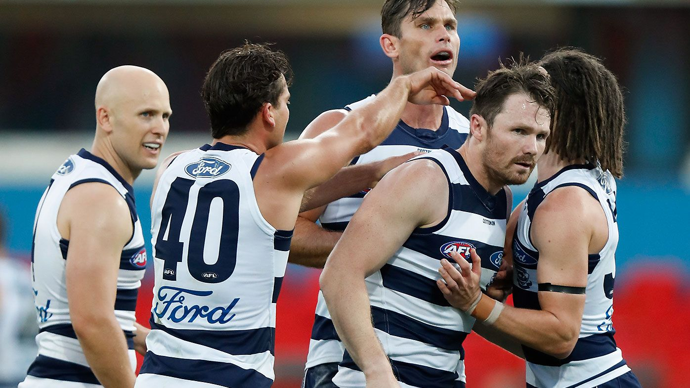 Patrick Dangerfield stars in forward role to spark Geelong to top four finish against Sydney