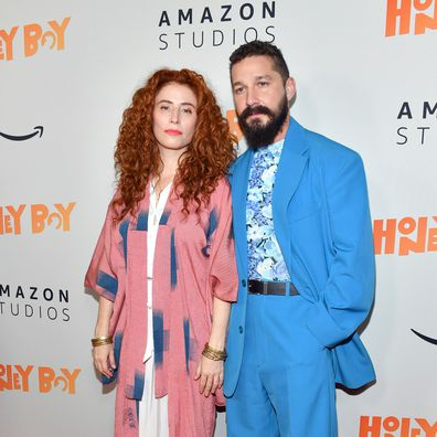 "Alma Har'el and Shia LaBeouf attend the premiere of Amazon Studios ""Honey Boy"" at The Dome at Arclight Hollywood on November 05, 2019 in Hollywood, California."