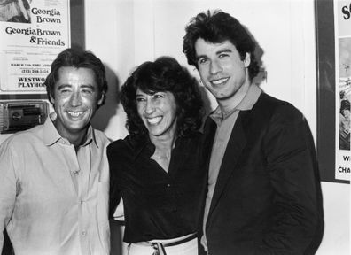 John Travolta with his sister Ellen Travolta, and his brother, Sam Travolta