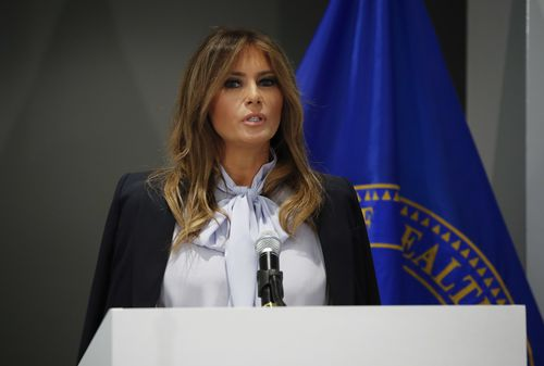 First lady Melania Trump has spoken against cyber-bullying.