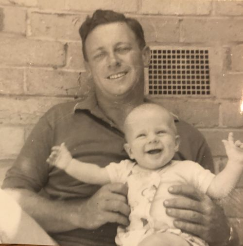 Brett McLeod as a baby with his father Doug.