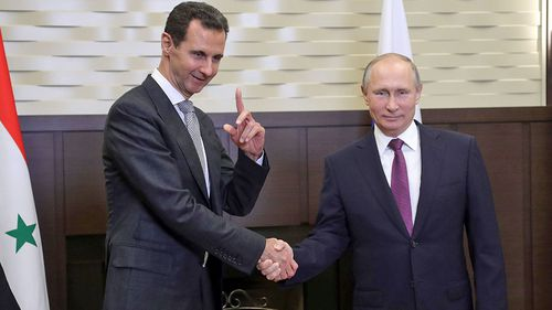 Syrian President Bashar Assad and Russian leader Vladimir Putin meet in southern Russia. (Photo: AP).