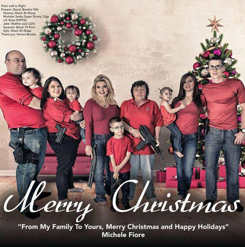 US politician's high-calibre Christmas card draws ire in wake of San Bernardino shooting