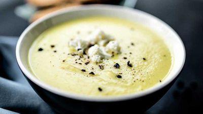 "13.)<a href=""https://kitchen.nine.com.au/2017/04/03/17/20/creamy-broccoli-and-cauliflower-soup"">Creamy broccoli and cauliflower soup</a>"