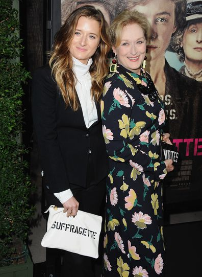 """Actress arrives at the Los Angeles Premiere Of Focus Features' """"Suffragette"""" at Samuel Goldwyn Theater on October 20, 2015 in Beverly Hills, California."""