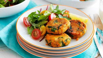 "<a href=""http://kitchen.nine.com.au/2017/05/29/11/41/sweet-potato-and-lenti-patties"" target=""_top"">Sweet potato and lentil patties </a>recipe"