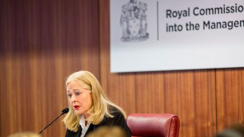 Royal commissioner Margaret McMurdo speaking during the Royal Commission into the Management of Police Informants in Melbourne