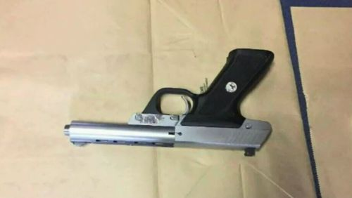 Police allege they seized a firearm from a Wollongong warehouse during the arrest. (NSW Police)