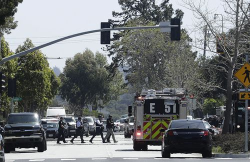 The shooter, a woman, is dead and three others are injured after the attack on the website's headquarters in California. (AAP)