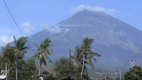 Mount Agung in Indonesia.