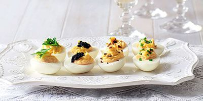 "Recipe: <a href=""http://kitchen.nine.com.au/2016/05/19/12/50/devilled-eggs"" target=""_top"">Devilled eggs</a>"
