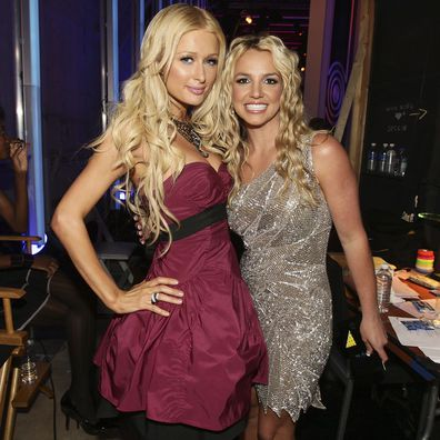 Paris Hilton, Britney Spears at the 2008 MTV Video Music Awards, Paramount Pictures Studios, September 7, 2008, Los Angeles, California