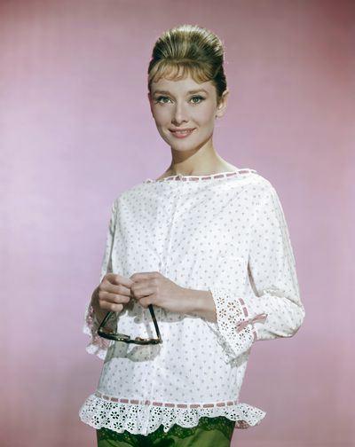 Breakfast at Tiffany's star Audrey Hepburn, 1963.