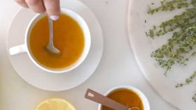 Anthia Kollouros' soothing sore throat tea
