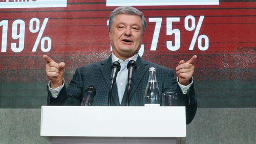 Acting Ukrainian President and Presidential candidate Petro Poroshenko