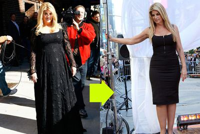 "The queen of weight loss - and weight gain - dropped from a US size 12 to a US size 6 in just ten weeks thanks to all that dancing (though she admits that's a ""stretchy size 6"")."
