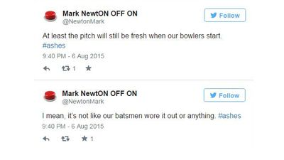 Clutching at straws, @NewtonMark. (Twitter)