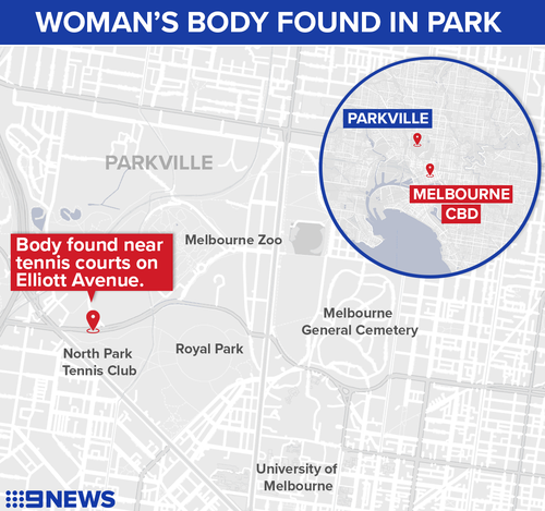 The woman was found in Royal Park.
