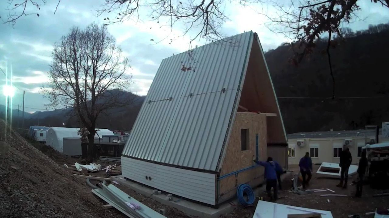 Flat pack foldable house takes just six hours to build