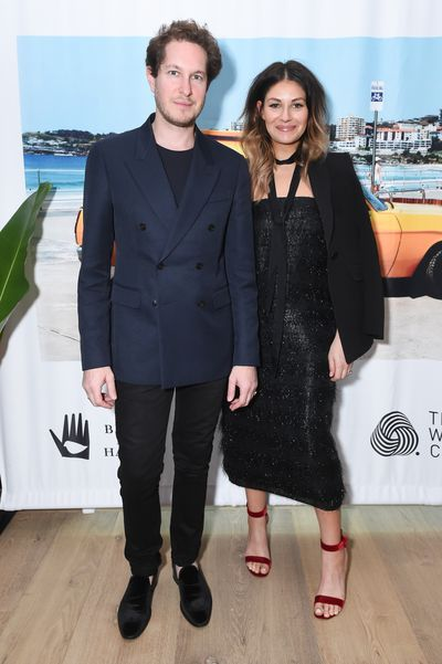 Marc and Camilla Freeman of Camilla and Marc at the Australian Fashion Foundation 2017 summer party at The Whitby Hotel, New York.