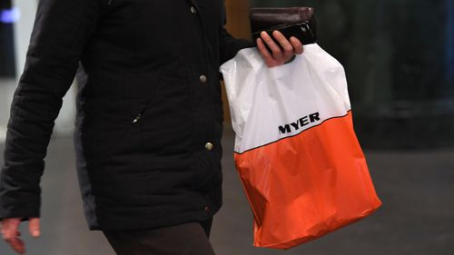 Today Myer announced discounts of up to 70 percent as part of its annual winter stocktake sales. Picture: 9NEWS.