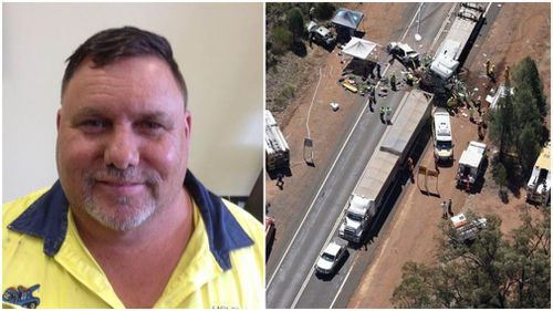 Robert Crockford, 50, was denied bail today in Dubbo Local Court over a deadly truck crash that killed two teens last month (Supplied).