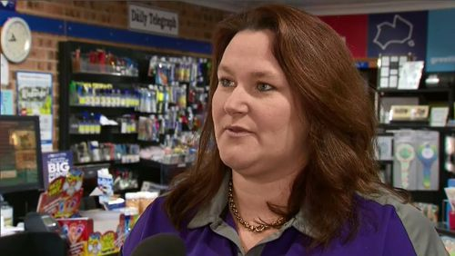 The store's manager, Gayle Black, told 9NEWS her family-run shop has been robbed three times in the past eight months. Picture: 9NEWS.