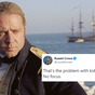 Russell Crowe responds to tweet criticising one of his films