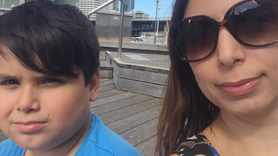 Jo Abi and son Giovanni who has autism