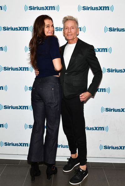 Brooke Shields and Calvin Klein visit SiriusXM Studios on March 13, 2017 in New York.