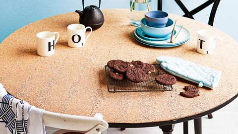 Cork cover table top