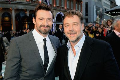 BFFs for life! Hugh Jackman and Russell Crowe.