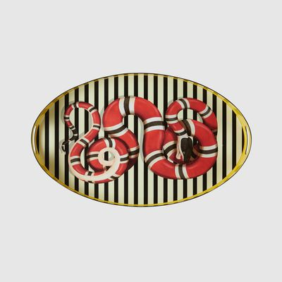 Kingsnake oval metal tray, $1,690