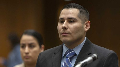 David Rojas has pleaded not guilty to fondling a corpse in Los Angeles.