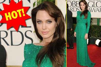 All Hail the queen! Angelina always wears granny-ish draping gown, but screw it - she looks perfect.